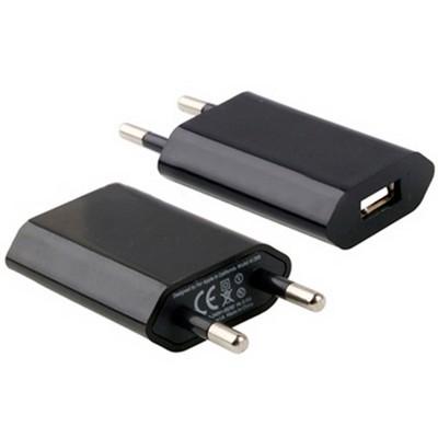 Адаптер питания USB для всех моделей iPhone/ iPad mini/ iPod, 1000 mA мощностью 5 Вт, класс А черный - фото 12202