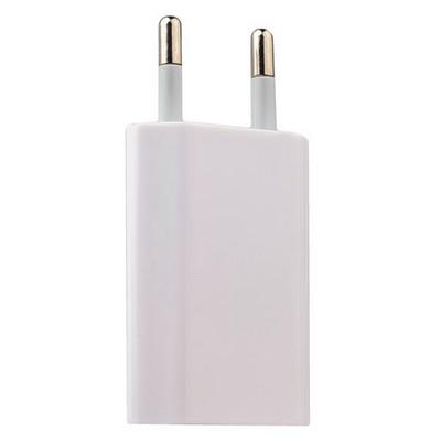 Адаптер питания USB для всех моделей iPhone/ iPad mini/ iPod, 1000 mA мощностью 5 Вт, класс ААА белый - фото 12209