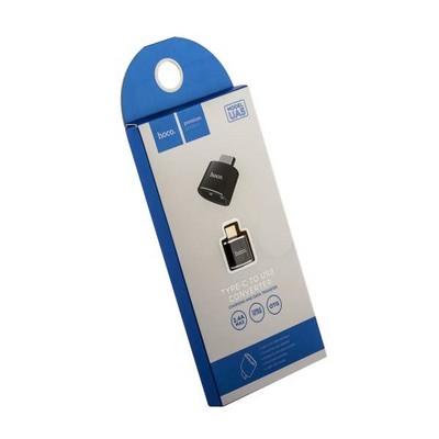 Адаптер Hoco UA5 Converter USB-A/ Type-C Черный - фото 12305