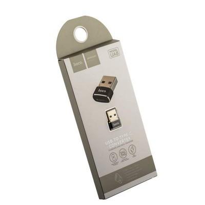 Адаптер Hoco UA6 Converter Type-C/ USB-A Черный - фото 12306