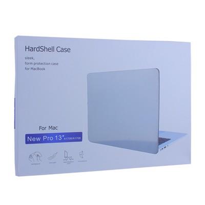 """Защитный чехол-накладка HardShell Case для Apple MacBook Pro 13"""" Touch Bar (2016-2019г.г.) A1706/ A1708/ A1989 матовая черная - фото 12776"""