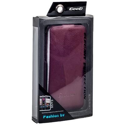 Чехол Fashion Case для iPhone 6s/ 6 (4.7) кожаный с откидным верхом коричневый - фото 12798