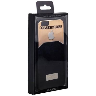 Чехол-накладка с яблоком для iPhone 6s/ 6 (4.7) черная - фото 12860