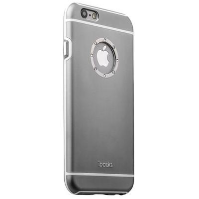 Накладка металлическая iBacks iFling Armour Aluminum Case with CrystalDiamond for iPhone 6s/ 6 (4.7) - (ip60139) Темно-Серая - фото 12976