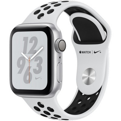 Apple Watch Series 4 40mm Silver Aluminum Case with Pure Platinum Nike Sport Band GPS - фото 7296