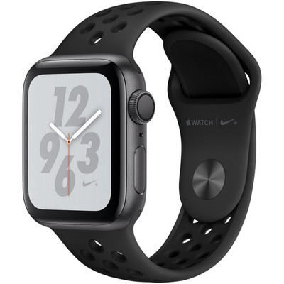 Apple Watch Series 4 40mm Space Gray Aluminum Case with Anthracite Nike Sport Band GPS - фото 7299