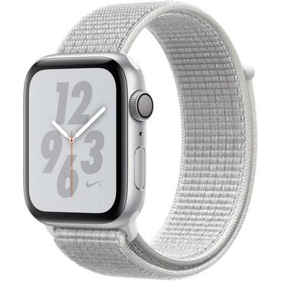 Apple Watch Series 4 44mm Nike+ GPS Silver Aluminum Case with Summit White Nike Sport Loop MU7H2 - фото 7302