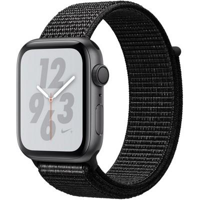 Apple Watch Series 4 44mm Space Gray Aluminum Case with Black Nike Sport Loop GPS - фото 7305