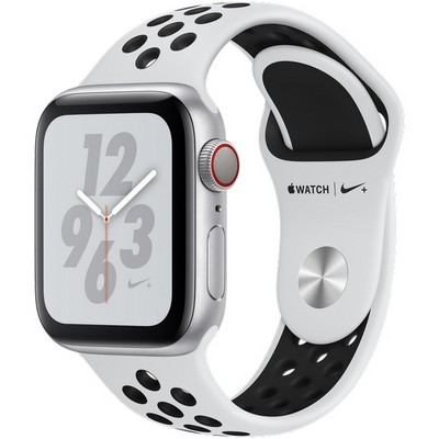 Apple Watch Series 4 40mm Silver Aluminum Case with Pure Platinum Nike Sport Band LTE - фото 7308