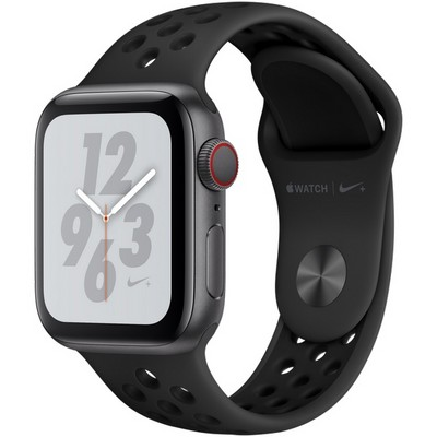 Apple Watch Series 4 40mm Space Gray Aluminum Case with Anthracite Nike Sport Band LTE - фото 7309