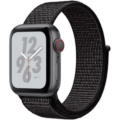 Apple Watch Series 4 40mm Space Gray Aluminum Case with Black Nike Sport Loop LTE - фото 7311
