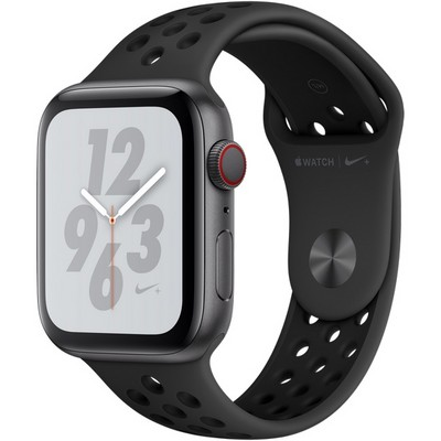 Apple Watch Series 4 44mm Space Gray Aluminum Case with Anthracite Nike Sport Band LTE - фото 7319