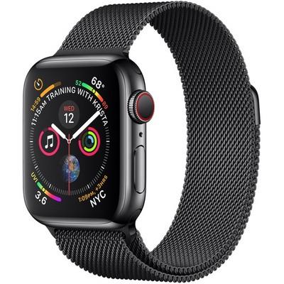 Apple Watch Series 4 40mm Space Black Stainless Steel Case with Space Black Milanese Loop LTE - фото 7350
