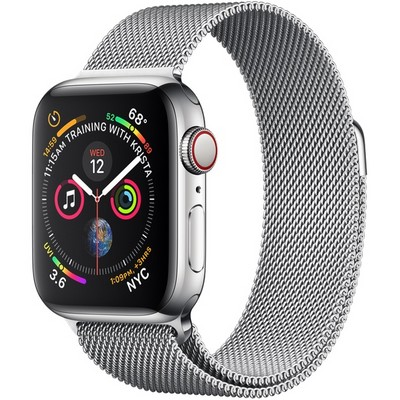 Apple Watch Series 4 40mm Stainless Steel Case with Milanese Loop LTE - фото 7359