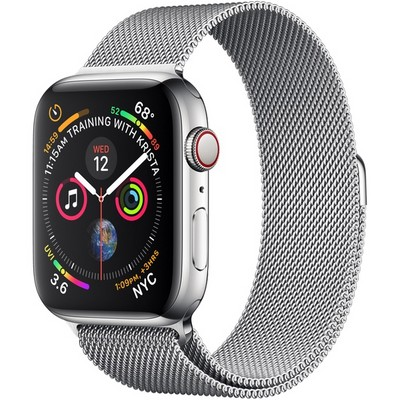 Apple Watch Series 4 44mm Stainless Steel Case with Milanese Loop LTE - фото 7392