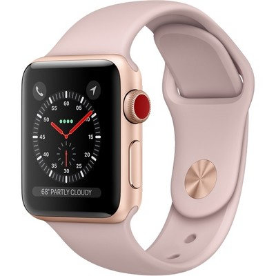 Apple Watch Series 3 38mm Aluminium Case with Sport Band Rose Pink Cellular - фото 7452