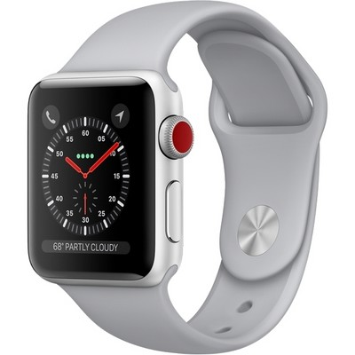 Apple Watch Series 3 38mm Aluminium Case with Sport Band Gray Cellular - фото 7467
