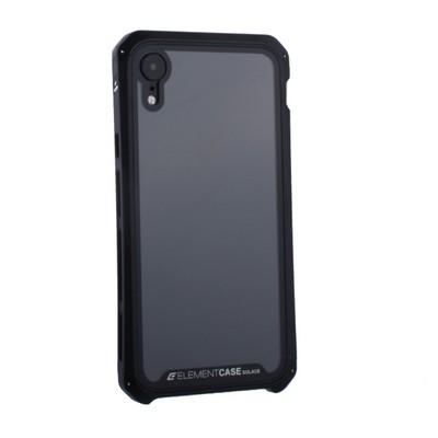"""Чехол-накладка противоударный (AL&Glass) для Apple iPhone XR (6.1"""") G-Solace черный ободок - фото 14380"""