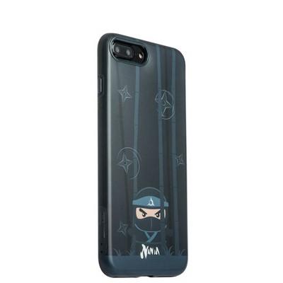 """Накладка пластиковая iBacks Ninja PC Case для iPhone 8 Plus/ 7 Plus (5.5"""") - (ip70008) Black Черная - фото 14398"""