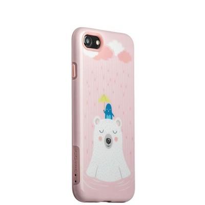 """Набор iBacks Lady's 2-piece Suit - Сонный Медведь зеркало&гребень&накладка для iPhone 8/ 7 (4.7"""") - (ip70002) Розовый - фото 14401"""