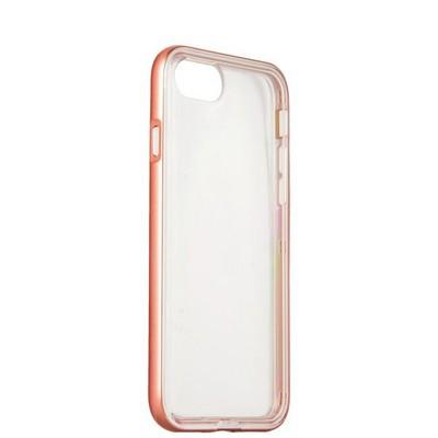Чехол&бампер силиконовый прозрачный для iPhone SE (2020г.)/ 8/ 7 (4.7) в техпаке Розовое золото борт - фото 14434