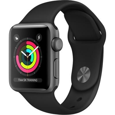 Часы Apple Watch Series 3 38mm Aluminum Case with Sport Band Серый космос/Черный - фото 7471