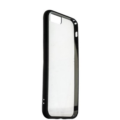 Накладка пластиковая прозрачная для iPhone SE (2020г.)/ 8/ 7 (4.7) в техпаке черный борт - фото 14474