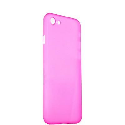 Чехол-накладка супертонкая для iPhone 8/ 7 (4.7) 0.3mm пластик в техпаке Розовый матовый - фото 14481
