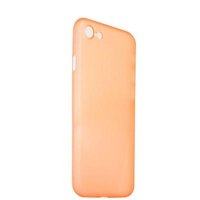 Чехол-накладка супертонкая для iPhone SE (2020г.)/ 8/ 7 (4.7) 0.3mm пластик в техпаке Оранжевый матовый - фото 14483