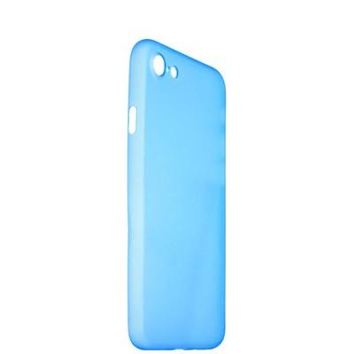 Чехол-накладка супертонкая для iPhone SE (2020г.)/ 8/ 7 (4.7) 0.3mm пластик в техпаке Голубой матовый - фото 14484