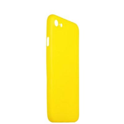Чехол-накладка супертонкая для iPhone SE (2020г.)/ 8/ 7 (4.7) 0.3mm пластик в техпаке Желтый матовый - фото 14485