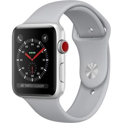 Умные часы Apple Watch Series 3 Cellular 42mm Silver Aluminum Case with Fog Sport Band MQK12 (Серебристый/Дымчатый) - фото 7482