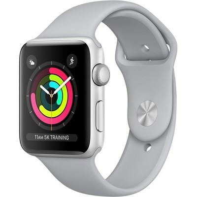 Apple Watch Series 3 42mm Silver Aluminum Case with Fog Sport Band (Серебристый/Дымчатый) - фото 7481