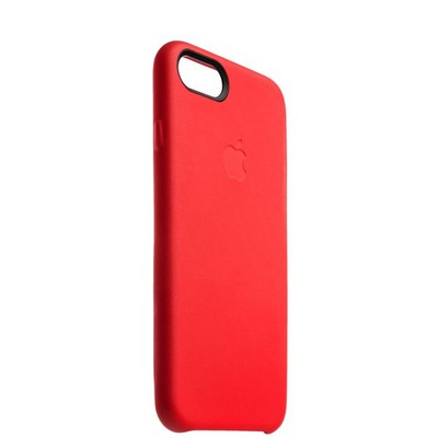 """Чехол-накладка кожаная Leather Case для iPhone SE (2020г.)/ 8/ 7 (4.7"""") Red - Красный - фото 14520"""