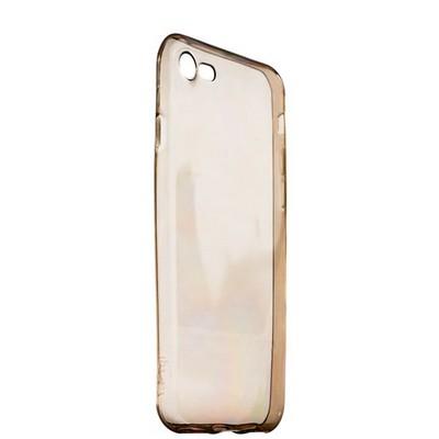 Чехол силиконовый для iPhone 8/ 7 (4.7) супертонкий в техпаке (прозрачно-чёрный) - фото 14532