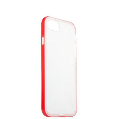 Чехол&бампер силиконовый прозрачный для iPhone 8/ 7 (4.7) в техпаке Розовый борт - фото 14558