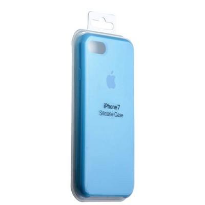 Чехол-накладка силиконовый Silicone Case для iPhone 8/ 7 (4.7) Blue Голубой №1 - фото 14621