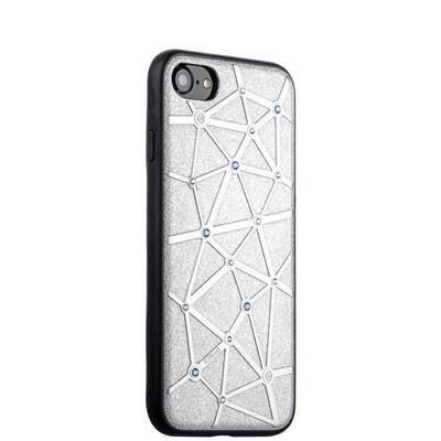 Чехол-накладка силиконовый COTEetCI Star Diamond Case для iPhone SE (2020г.)/ 8/ 7 (4.7) CS7032-TS Серебристый - фото 14773