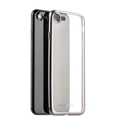 Чехол-накладка силикон Deppa Gel Plus Case D-85283 для iPhone SE (2020г.)/ 8/ 7 (4.7) 0.9мм Графитовый матовый борт - фото 14788