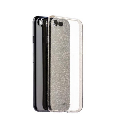 Чехол-накладка силикон Deppa Chic Case с блестками D-85298 для iPhone SE (2020г.)/ 8/ 7 (4.7) 0.8мм Черный - фото 14797