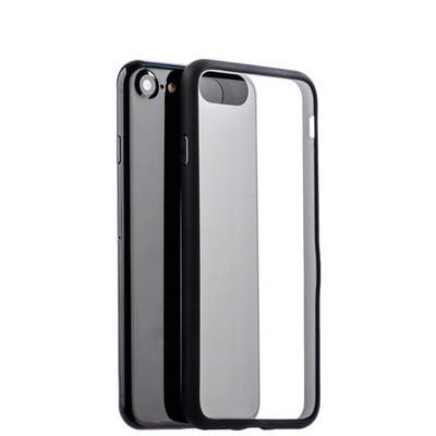 Чехол-накладка силикон Deppa Neo Case супертонкий D-85279 для iPhone SE (2020г.)/ 8/ 7 (4.7) 0.3мм Черный борт - фото 14802