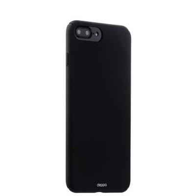 Чехол-накладка пластик Soft touch Deppa Air Case D-83272 для iPhone 8 Plus/ 7 Plus (5.5) 1мм Черный - фото 14890