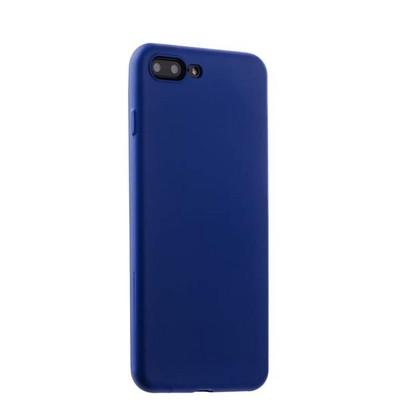 Чехол-накладка силикон Soft touch Deppa Gel Air Case D-85272 для iPhone 8 Plus/ 7 Plus (5.5) 0.7мм Синий - фото 14902