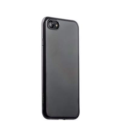 Чехол-накладка силикон Deppa Gel Plus Case D-85253 для iPhone 8/ 7 (4.7) 0.9мм Черный глянцевый борт - фото 14908