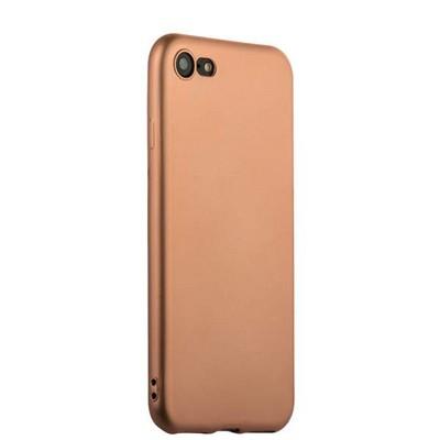 Чехол-накладка силиконовый J-case Delicate Series Matt 0.5mm для iPhone SE (2020г.)/ 8/ 7 (4.7) Розовое золото - фото 15003