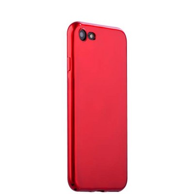 """Чехол-накладка силиконовый J-case Shiny Glazed Series 0.5mm для iPhone 8/ 7 (4.7"""") Jet Red Красный - фото 15148"""