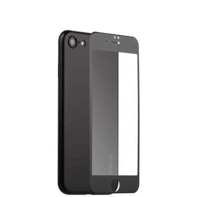 Чехол-накладка супертонкая Coblue Slim Series PP Case & Glass (2в1) для iPhone SE (2020г.)/ 8/ 7 (4.7) Черный - фото 15266