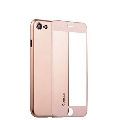 Чехол-накладка супертонкая Coblue Slim Series PP Case & Glass (2в1) для iPhone SE (2020г.)/ 8/ 7 (4.7) Розовый - фото 15269