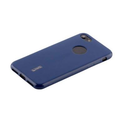 Чехол-накладка силиконовый Cherry матовый 0.4mm & пленка для iPhone 8/ 7 (4.7) Синий - фото 15504