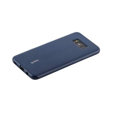 Чехол-накладка силиконовый Cherry матовый 0.4mm & пленка для Samsung Galaxy S8 Plus Синий - фото 15516
